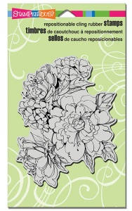 Stampendous Cling Rubber Stamp - Sketchy Blooms