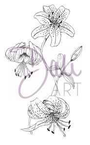 DaliART Clear Stamp - Lily Flowers
