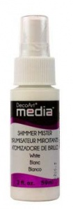 DecoArt Media Mister - White Shimmer