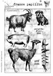 France Papillon - Drama Llama A5 unmounted rubber stamp set