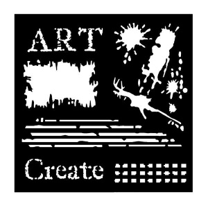 Woodware stencil 6''x6'' - Art