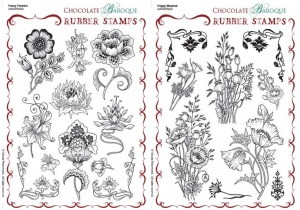 Fancy Flowers/Poppy Meadow Rubber stamps Multi-buy - A5