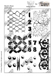 Illusionary Artists - France Papillon - Rock 'n Rust  A5 unmounted rubber stamp set