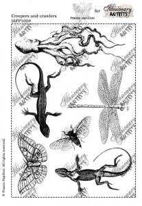 Illusionary Artists - France Papillon - Creepers and Crawlers  A5 unmounted rubber stamp set
