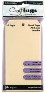 Giant No 12 size Manila  Tags - 10pcs