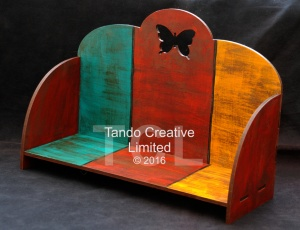 Tando Creative - MDF Self Assembly Shelf Kit with Butterfly detail