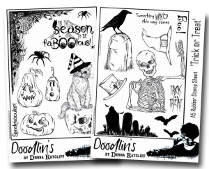 Donna Ratcliff - Spooktacular/Trick or Treat Multi buy A5 rubber stamp sets