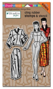 Stampendous - N Studio Fashion Dame with Template