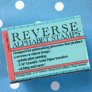 Reverse Alphabet Stamp Set by Lesley Riley