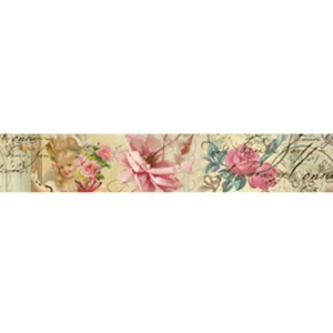 Stamperia Deco Tape - Roses & stamps 3cm x 5m
