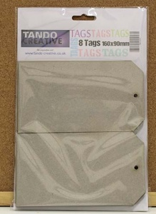 Tando Creative - Set of 8 Greyboard Tags size 9