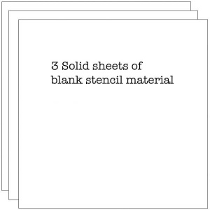 Crafter's Workshop Template 6x6'' 3 Blank Stencil Sheets