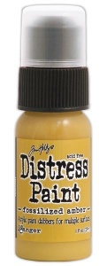 Tim Holtz Distress Paint - Fossilized Amber
