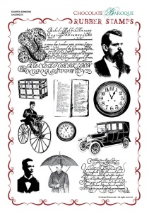 Eccentric Edwardian Rubber Stamp Sheet - A4