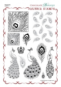 Peacock Glory Rubber Stamp Sheet - A4