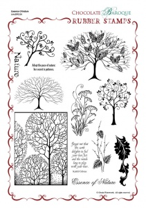 Essence of Nature Rubber Stamp Sheet - A4