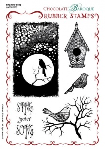 Sing Your Song Rubber stamp sheet - A5