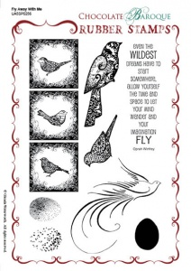 Fly Away With Me Rubber stamp sheet - A5
