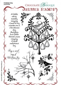 Christmas Song Rubber stamp sheet - A5