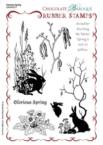 Glorious Spring Rubber stamp sheet - A5