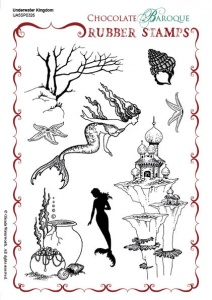 Underwater Kingdom Rubber stamp sheet - A5
