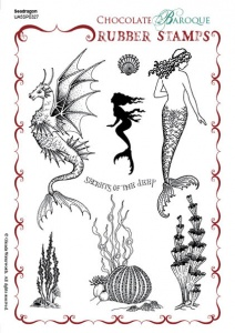 Seadragon Rubber stamp sheet - A5