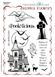 Spookylicious Rubber stamp sheet - A5
