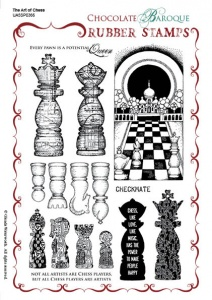 The Art of Chess Rubber stamp sheet - A5