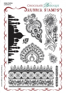 Indian Textiles Rubber stamp sheet - A5