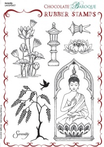 Serenity Rubber stamp sheet - A5