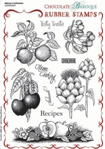 Mellow Fruitfulness Rubber stamp sheet - A5