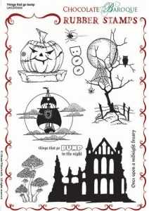 Things that go Bump Rubber stamp sheet - A5