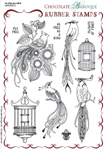 As Free as a Bird Rubber Stamp sheet - A5