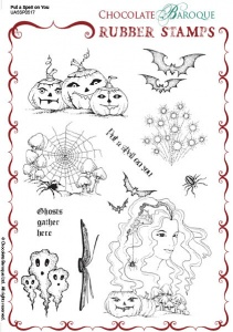 Put a Spell on You Rubber Stamp sheet - A5