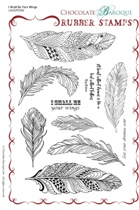 I Shall Be Your Wings Rubber Stamp sheet - A5