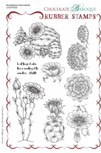 Scrumptious Succulents Rubber Stamp sheet - A5