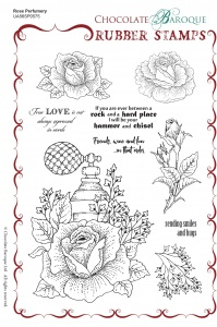 Rose Perfumery Rubber Stamp sheet - A5