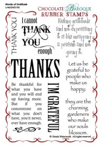 Words of Gratitude Rubber stamp sheet - A6