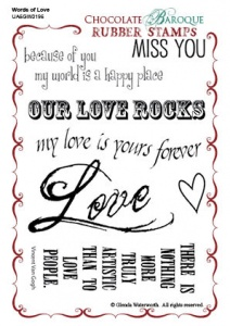 Words of Love Rubber stamp sheet - A6