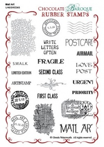 Mail Art Rubber stamp sheet - A6