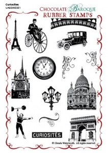 Curiosities Rubber stamp sheet - A6