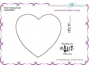 Artist Trading Heart unmounted rubber stamp set - A6