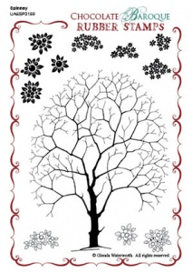 Spinney Design a Tree Rubber stamp sheet - A6