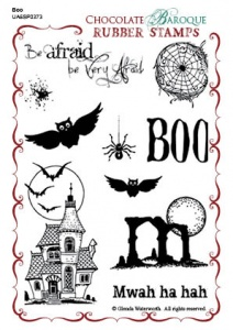 Boo Rubber stamp sheet - A6