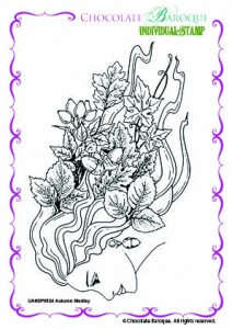 Autumn Medley Single Rubber stamp  - A6