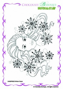 Winter Dawn Single Rubber stamp  - A6