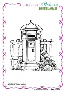 Vintage Postbox Single Rubber stamp  - A6