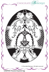Russian Exquisite Egg Single Rubber stamp  - A6