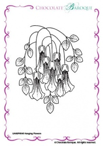 Hanging Flowers Single Rubber stamp  - A6