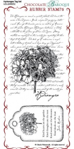 Hydrangea Tag Stamp Sheet - DL